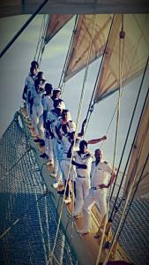 crew on bow