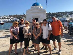 group on an island